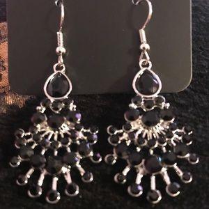 Black bling earrings!
